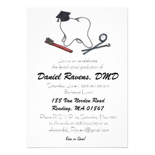 dental hygiene graduation invitations