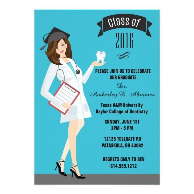 dental school graduation invitation female dds 256329600004905051
