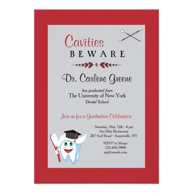 Dental Graduation Invitations Personalized Dental School Graduation Invitations