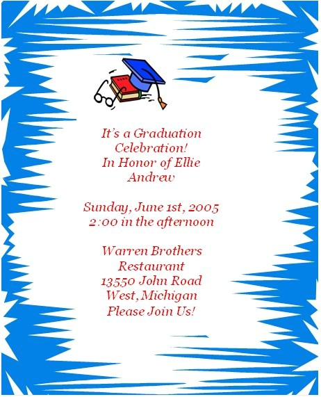 free printable personal graduation invitations