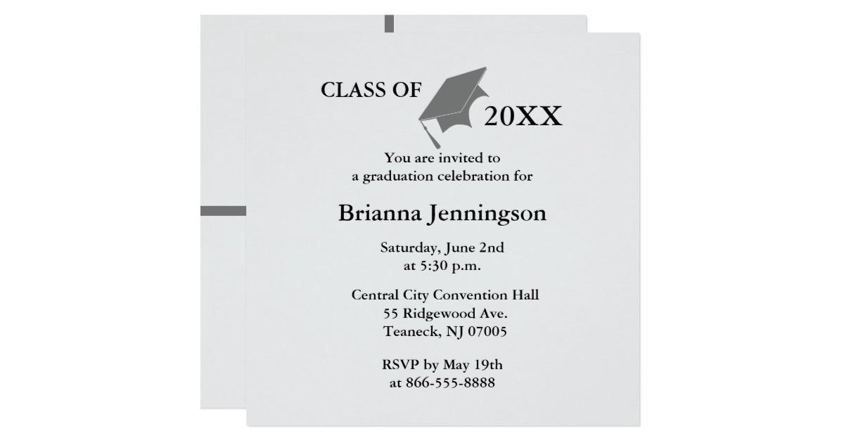 create your own graduation invitation 3 161809301875060050