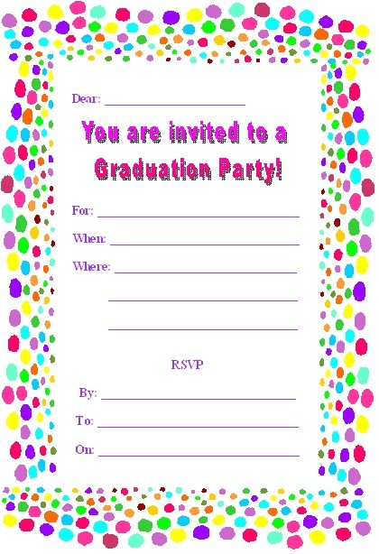 free printable graduation party invites