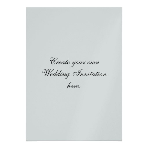 create your own wedding invitations silver 161608654461571098