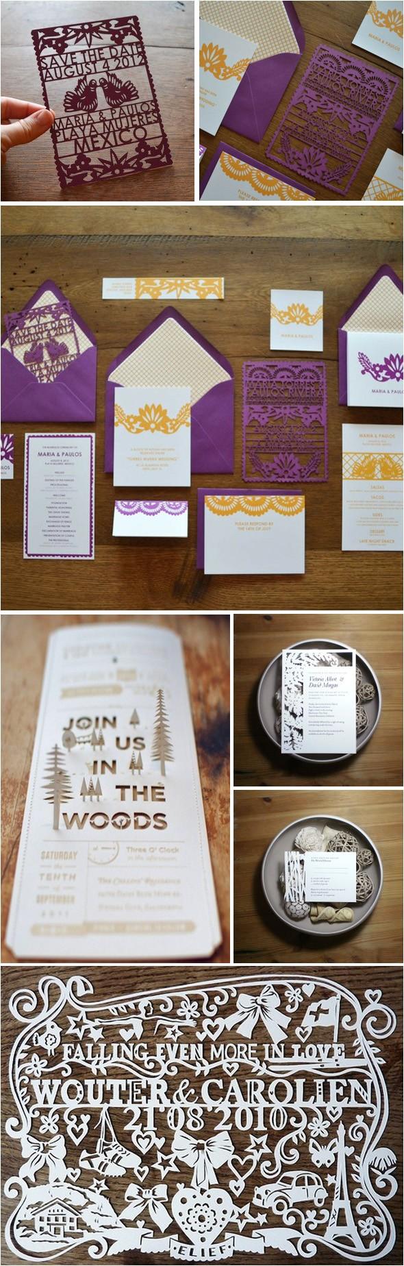 die cut destination wedding invitations