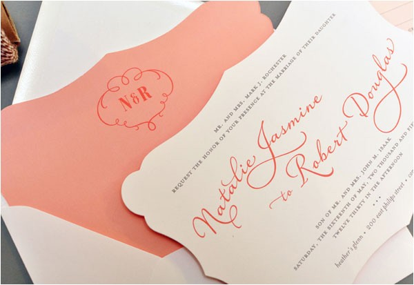 die cut wedding invitations by smitten on paper
