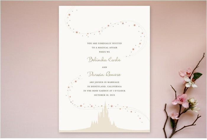 enchanted stars wedding invitation suite