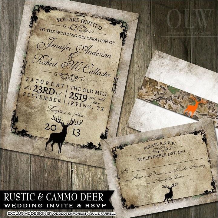 rustic distressed camo tree wedding