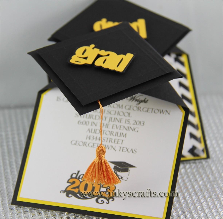 3d graduation cap pop up invitations