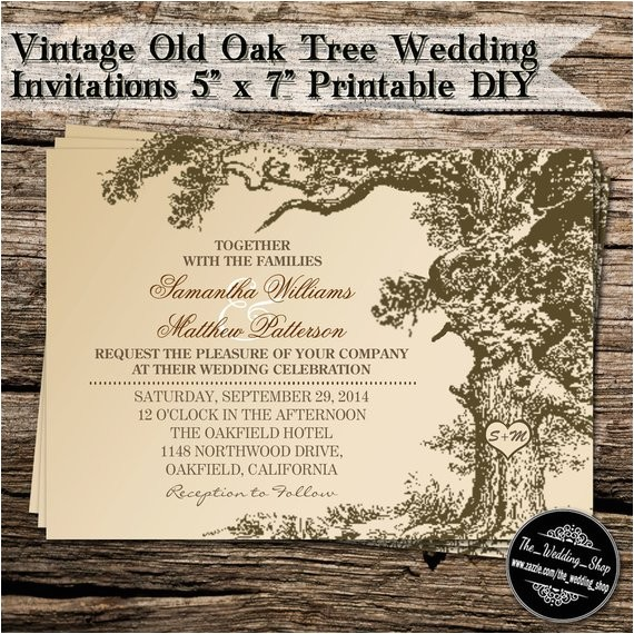 vintage old oak tree diy wedding