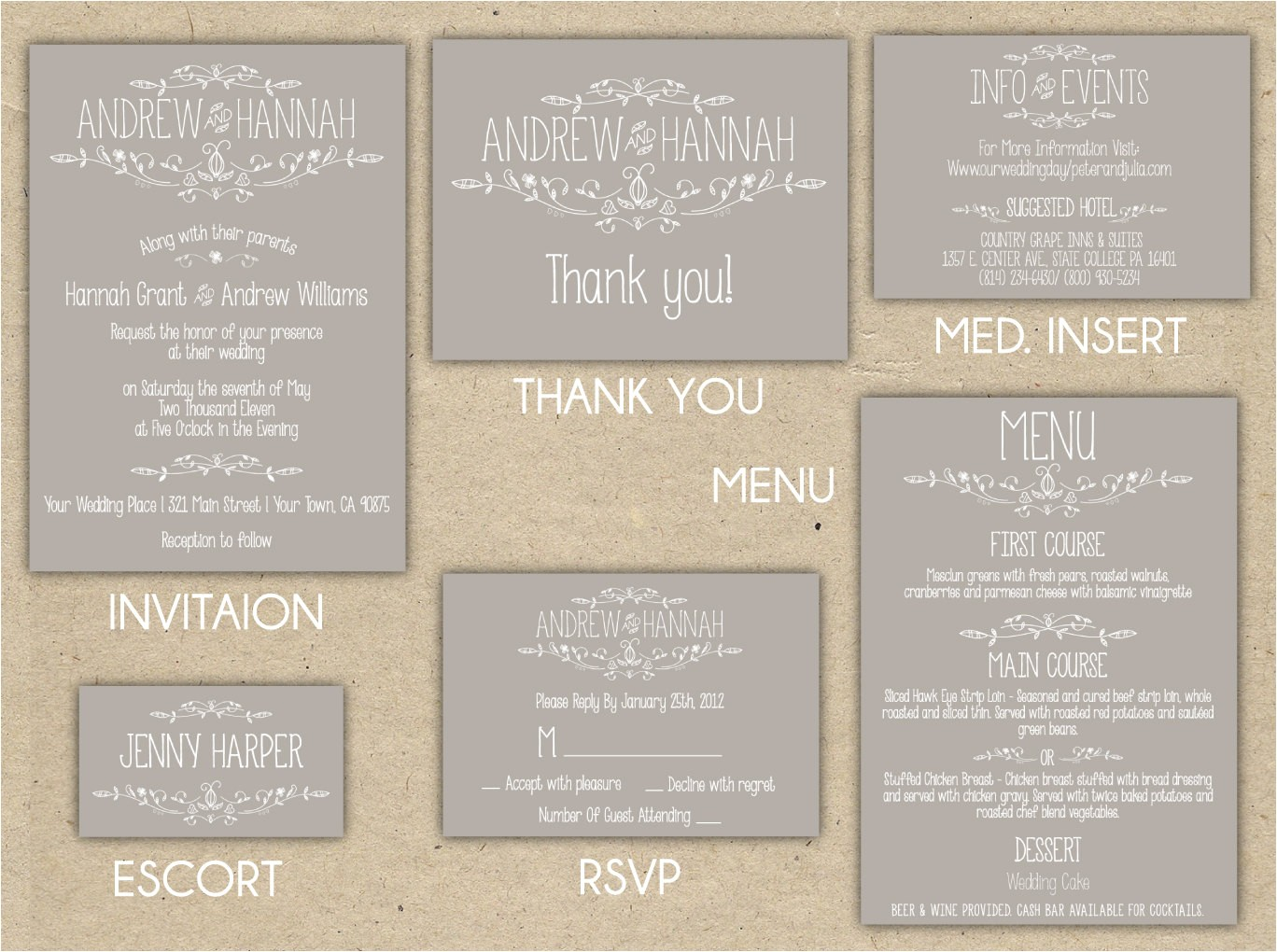 diy wedding invitation templates