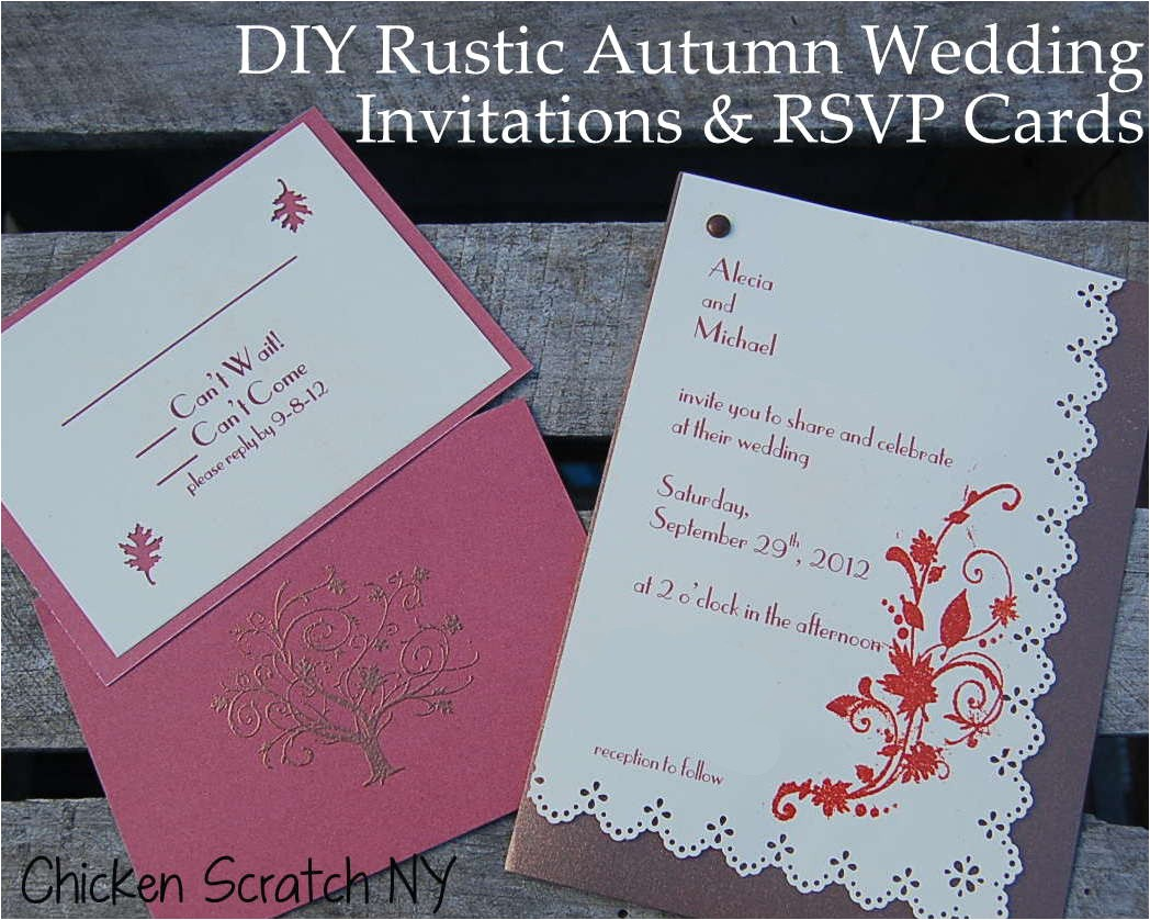 diy autumn barn wedding invitation