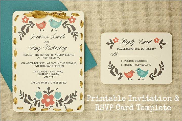 diy tutorial free printable invitation rsvp card template