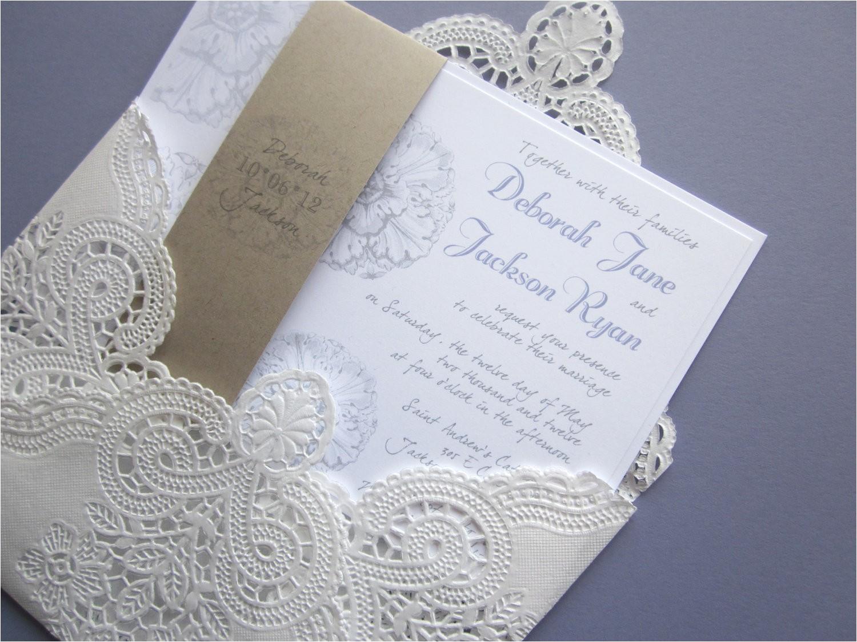 diy vintage lace wedding invitations