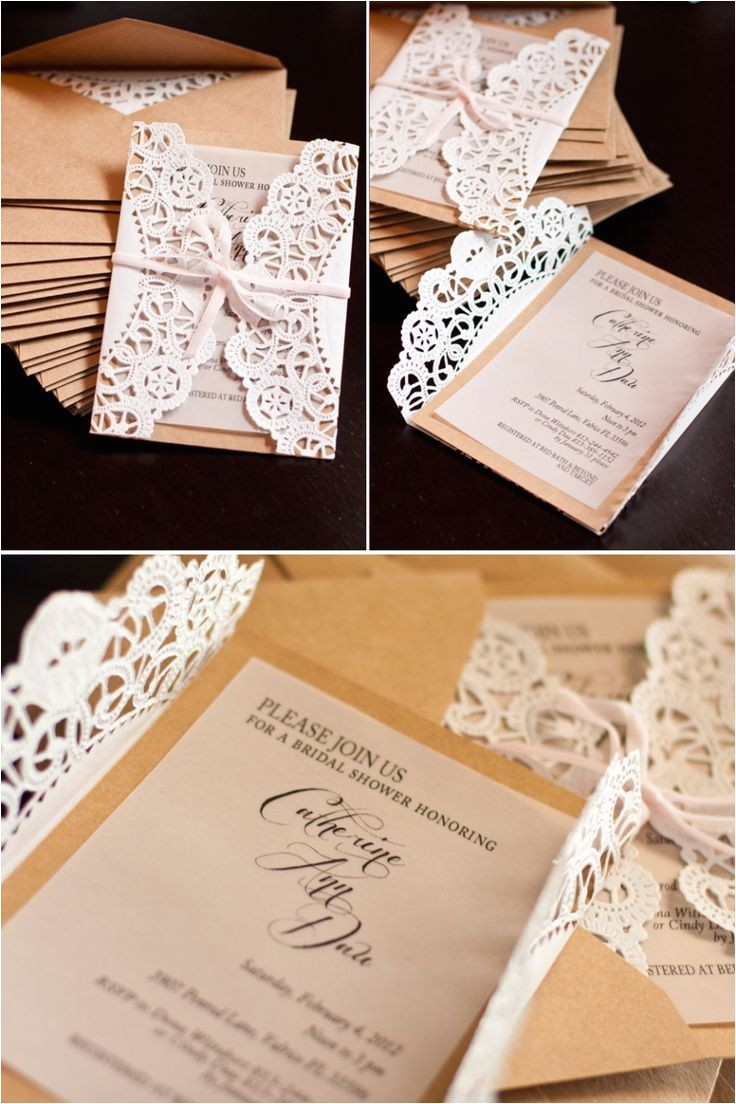 Diy Wedding Invitations with Lace Lace Doily Diy Wedding Invitations Mrs Fancee