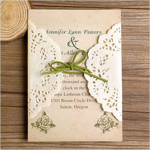 lace wedding invitations diy