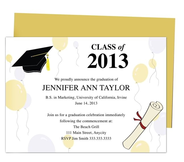 diy graduation announcements templates