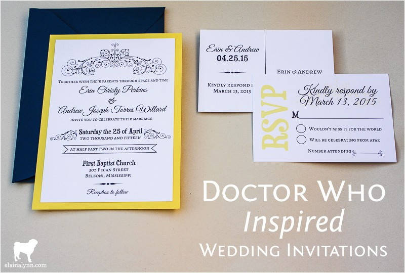 doctor who inspired wedding invitations