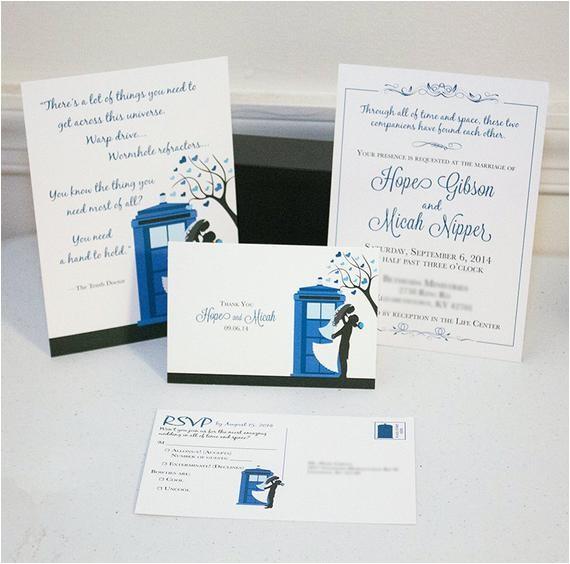 doctor who tardis wedding invitation