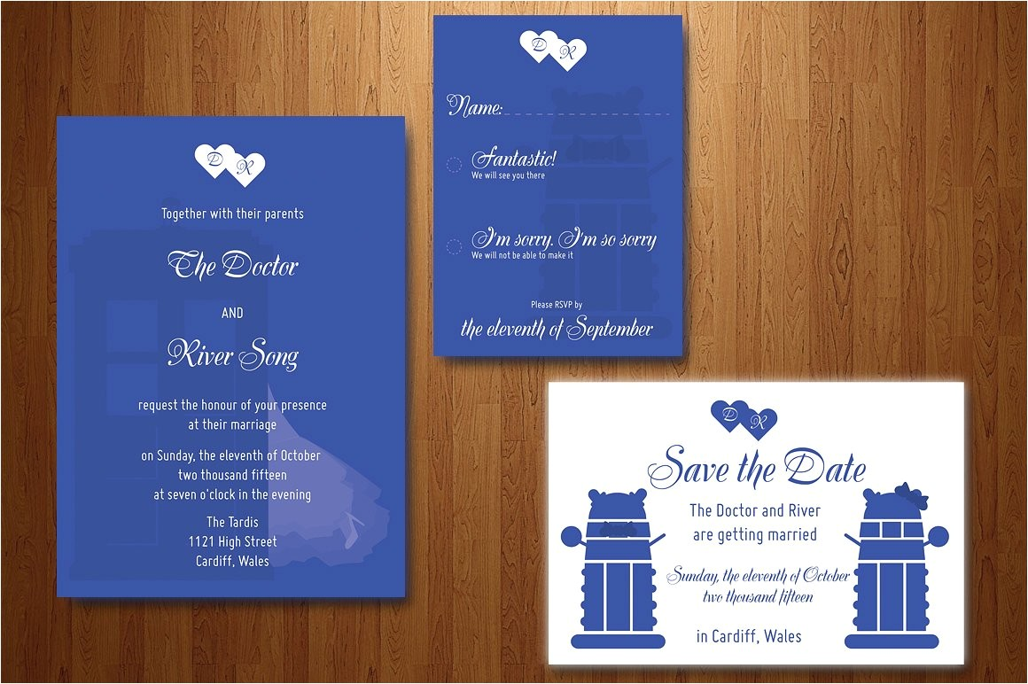 80680 doctor who wedding invitation