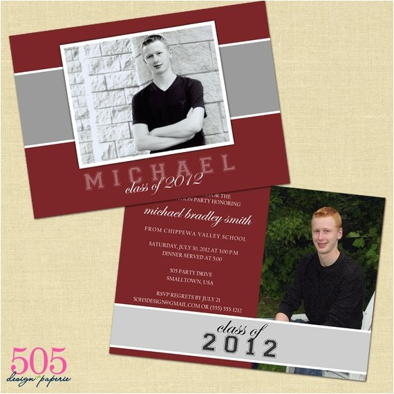 Double Graduation Party Invitations Items Similar to Double Sided Graduation Party Invitation
