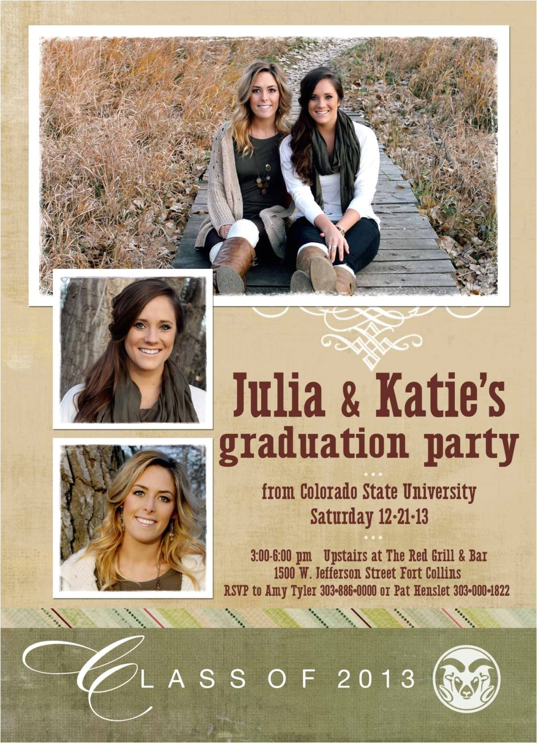 graduation announcements with photos