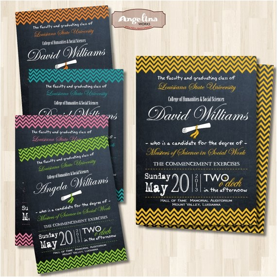 graduation chalkboard double sided