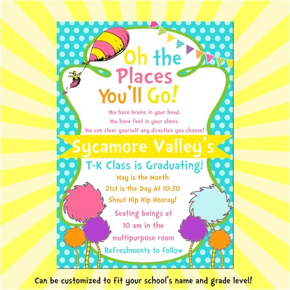 dr seuss inspired oh the places youll go