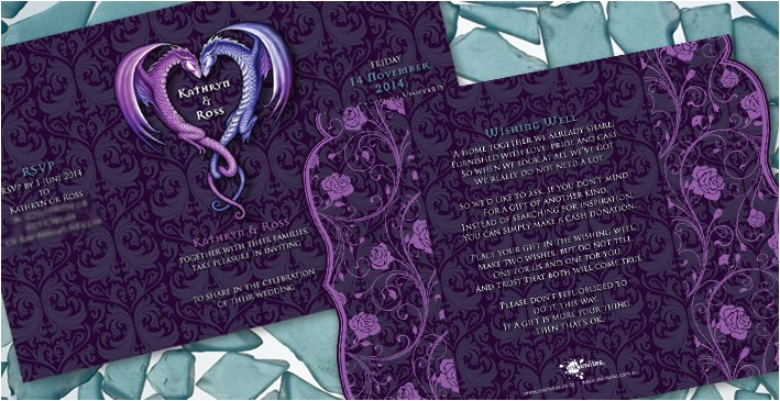 kathryn rosss dragon wedding invitation