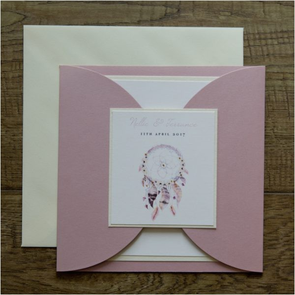 dreamcatcher wedding invitations