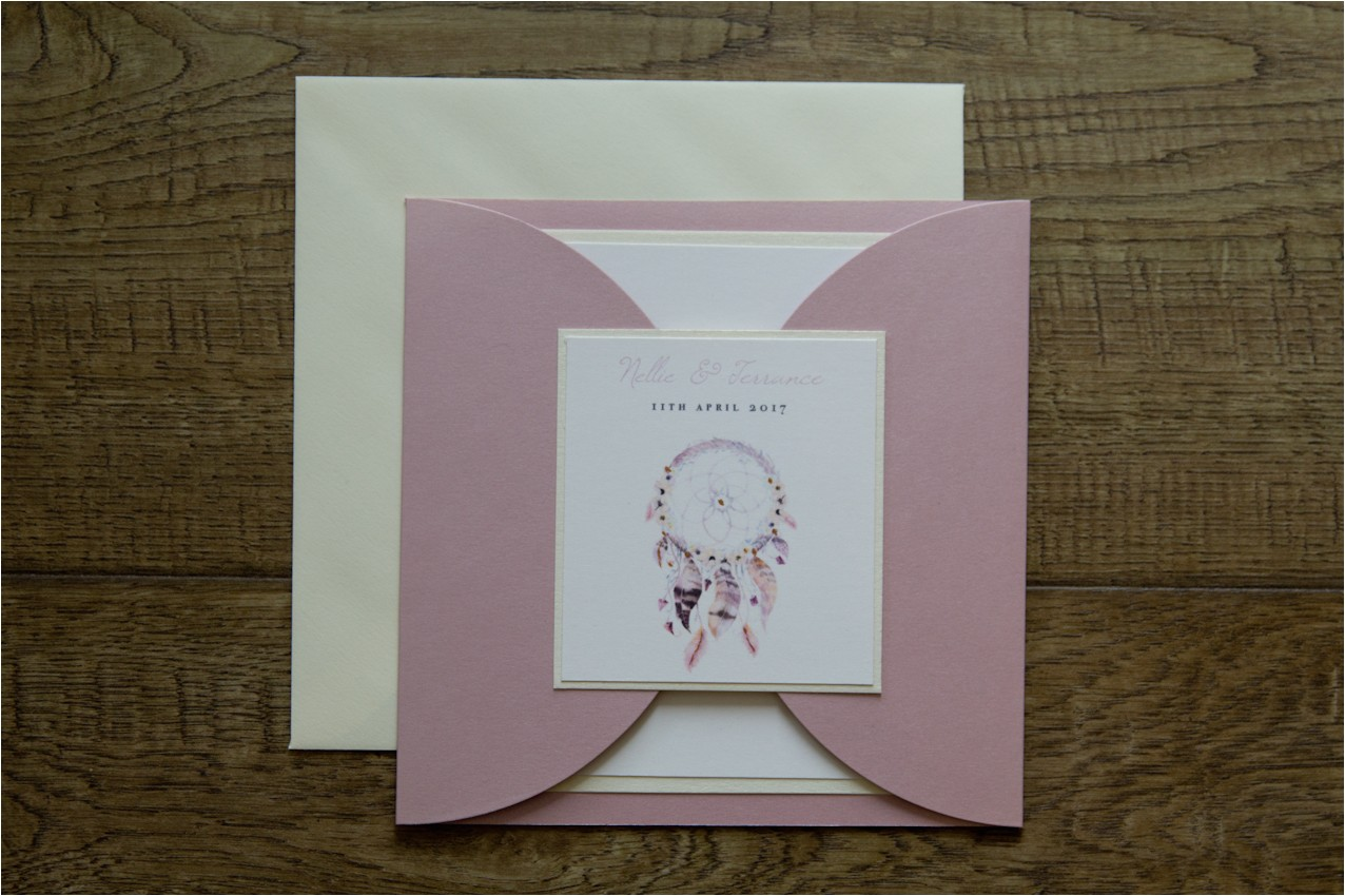 Dreamcatcher Wedding Invitations Dreamcatcher Wedding Invites Beautifully Handmade