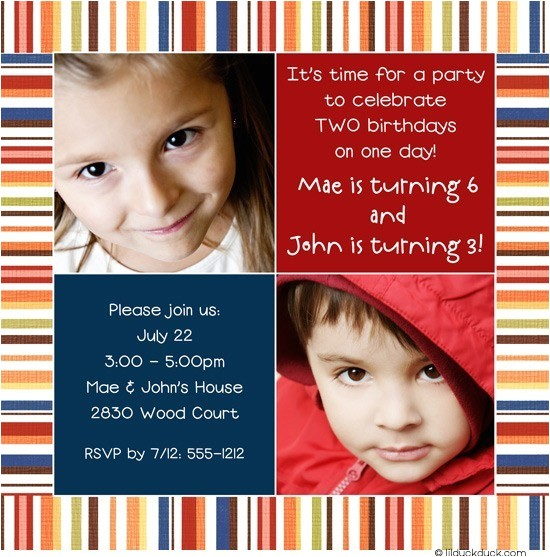 birthday party invitation bright double fun festiv