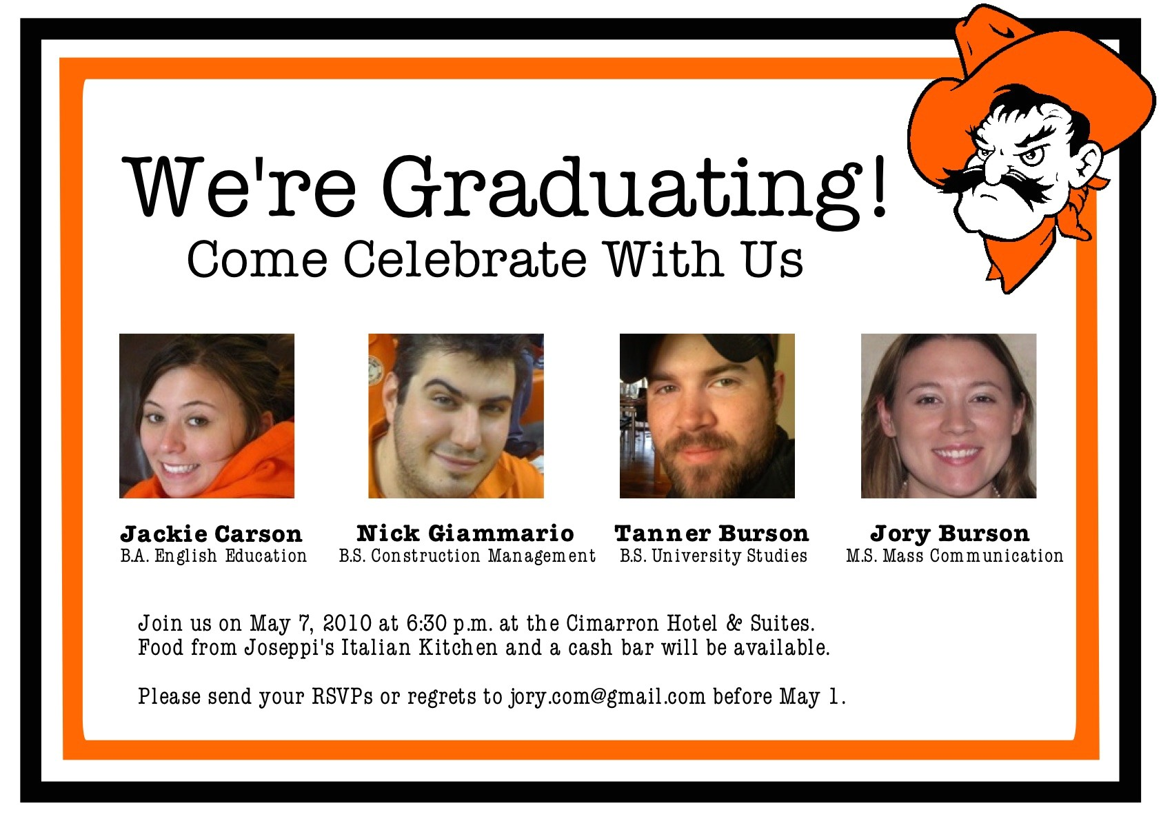 dual graduation party invitations