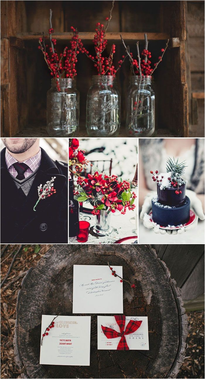 cranberry and dusty blue wedding