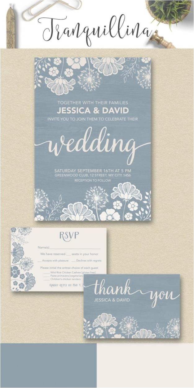 dusty blue floral wedding invitations dusty blue floral wedding with regard to dusty blue and cranberry wedding invitations