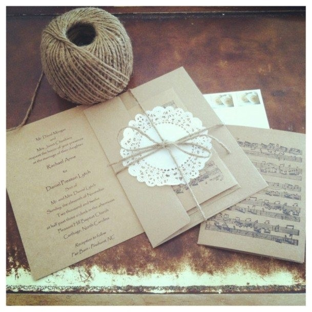 simple handmade wedding invitation card