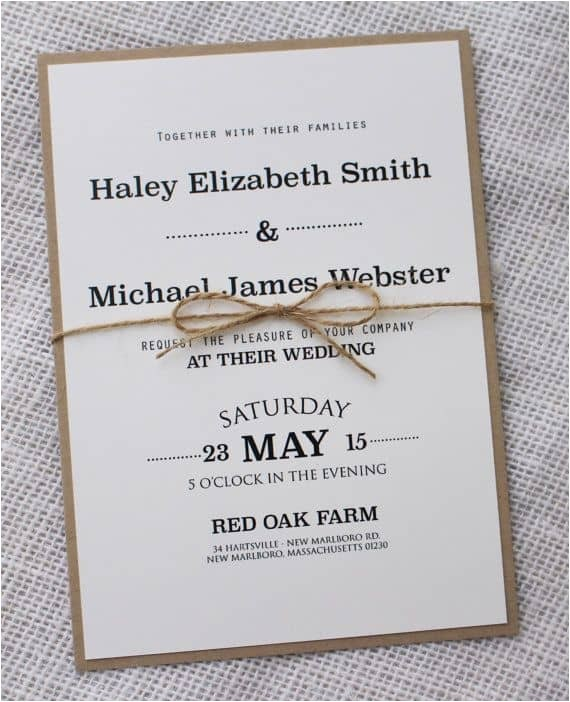 simple wedding invitations best photos