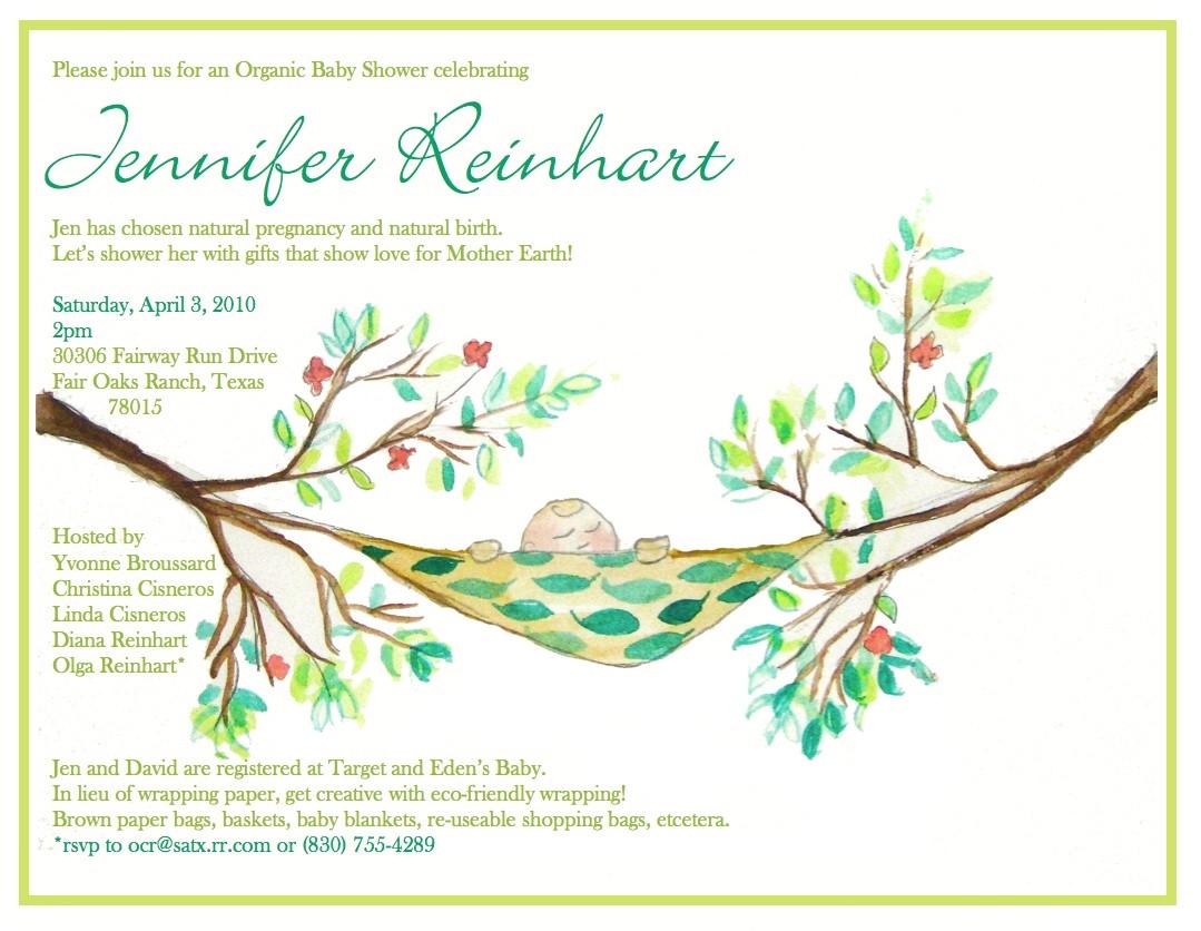 eco friendly baby shower invite