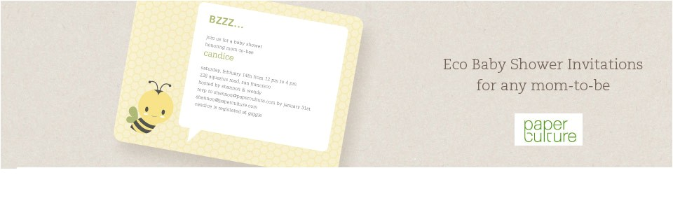 eco friendly baby shower invitations