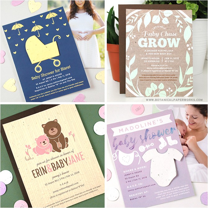 new plantable products for eco friendly baby showers birth announcements