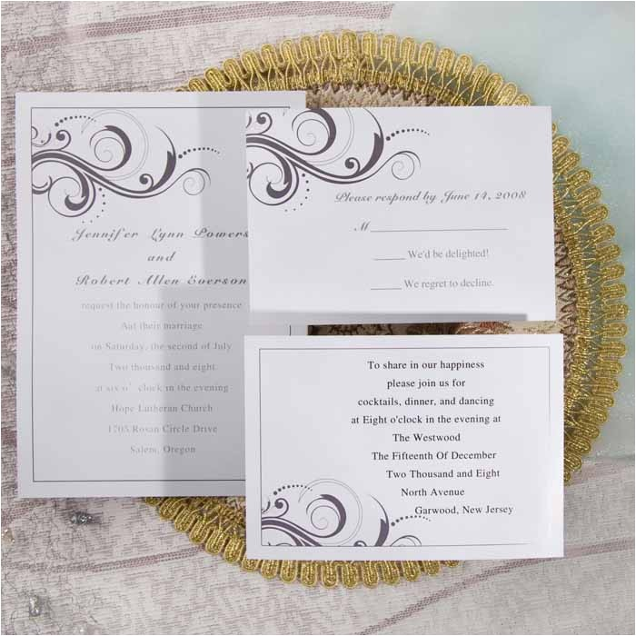 simple white and grey inexpensive printable wedding invites online ewi065