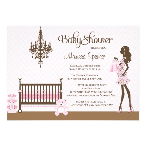 pink elegant nursery baby girl shower invitation 161908888915252974