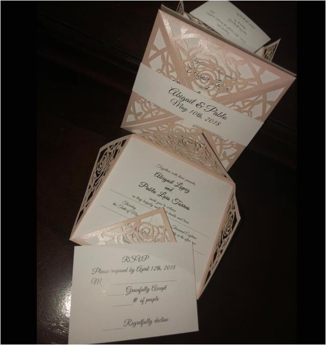 classic unique blush pink rose wedding invitation suite ewws199