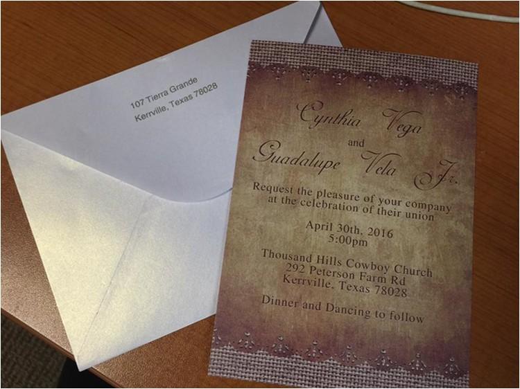 rustic burlap wedding invitations ewi249