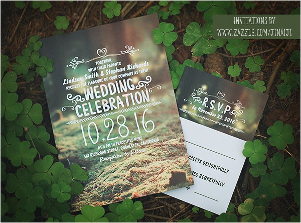 forest wedding invitation