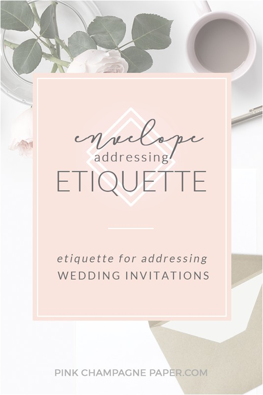 envelope addressing etiquette