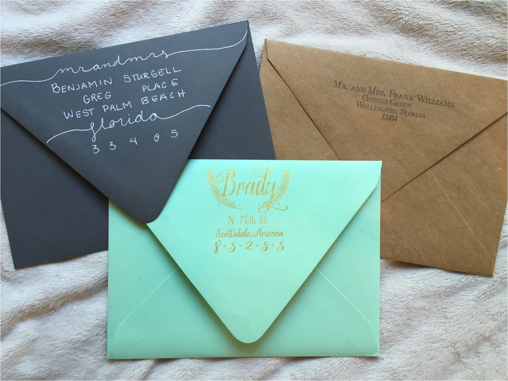 etiquette rules addressing wedding invitation envelopes