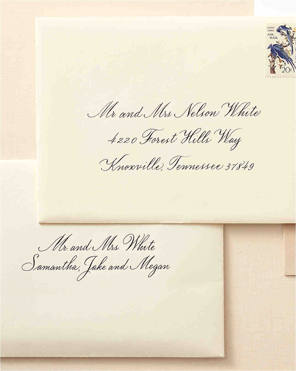 how to address wedding invitation envelopes