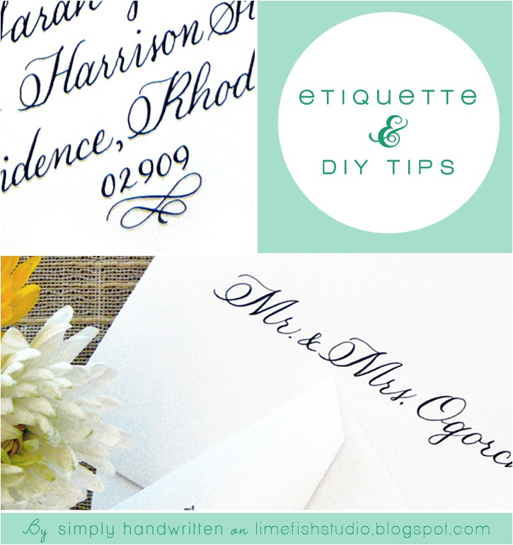 simply handwritten diy wedding invitations and envelope etiquette