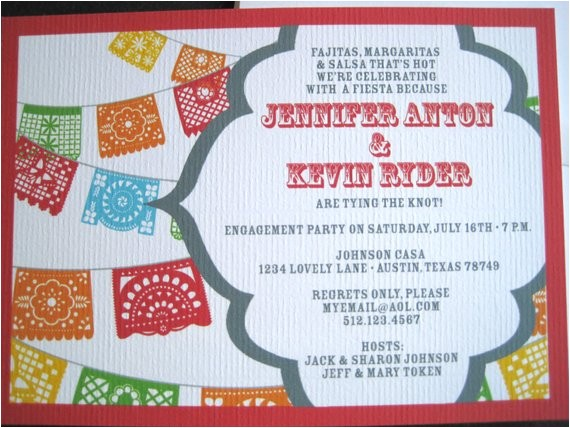 fiesta invitations with papel picado