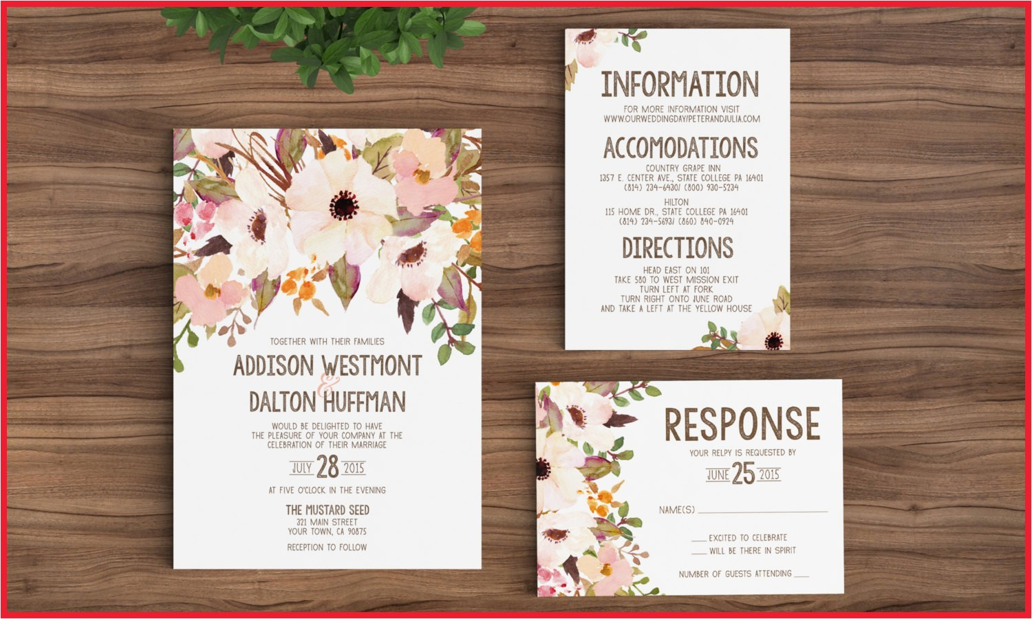 etsy wedding invitations rustic